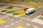 Toy Car (bus) On Carpet