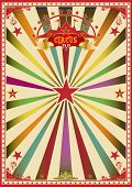 Multicolor circus. A wonderful circus poster for a big party !