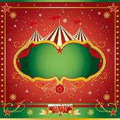 Circus christmas leaflet. A circus christmas or Happy new year's card for you