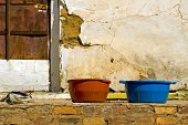 Two Tubs On Old Porch