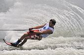Water Ski In Action: Man Slalom