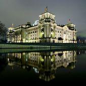 Berlin Reichstag At Night