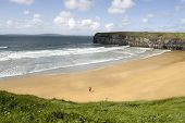 View Of Beach And Cliffs In Ballybunion