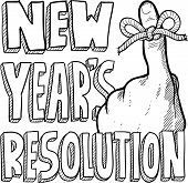 New Year's Resolution sketch