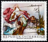 Postage stamp Austria 1968 St. Leopold Carried into Heaven