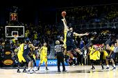 BROOKLYN-DEC 15: West Virginia Mountaineers forward Deniz Kilicli (13) goes up for the ball against