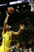 BROOKLYN-DEC 15: Michigan Wolverines forward Jon Horford (15) goes up for a shot against the West Vi