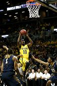 BROOKLYN-DEC 15: Michigan Wolverines guard Tim Hardaway Jr. (10) shoots against the West Virginia Mountaineers during the first half at Barclays Center on December 15, 2012 in Brooklyn.