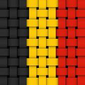 belgian flag. wicker vector. eps 8