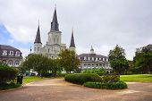 Saint Louis Cathedral And Jackson Square