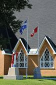 stock photo of maxim  - Canada Quebec the historical church of Saint Maxime du Mont Louis - JPG