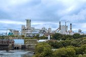 Domtar Paper Mill In Town Of Espanola, Ontario Canada
