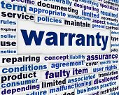 Warranty consumer service message background