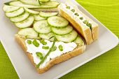 Sandwiches with cucumber