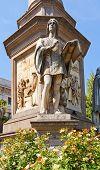 Statue Of Gian Giacomo Caprotti Da Oreno (andrea Salai). Milan, Italy