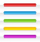 Colorful Folded Paper Navigation Menu Backgrounds