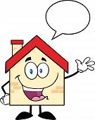Happy House With Speech Bubble