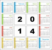 Annual Calendar Design For 2014