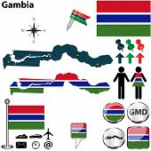 Map Of Gambia