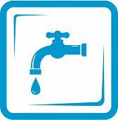 faucet in frame - tap water symbol