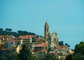 Baroque church of St. John the Baptist in Cervo, Italy