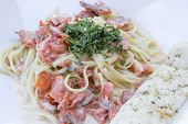 Linguine Alfredo With Smoked Salmon