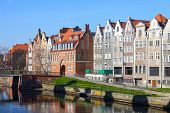 image of tenement  - Tenement houses on Old Town in Gdansk Poland - JPG