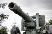stock photo of cannon  - Original World War II cannon - JPG