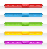Colorful Folded Paper Navigation Menu