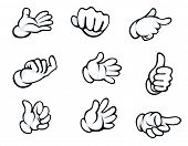 pic of middle finger  - Set of hand gestures in cartoon style for comics design - JPG