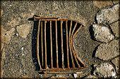 Metal Rusty Manhole
