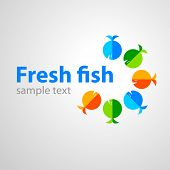 template sign design - fresh fish