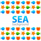 sea background - template for design