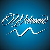 Creative calligraphy of text welcome