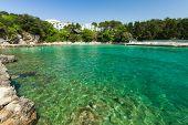 View of small bay in in Krk on Krk island, Croatia