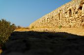 The outside wall of The Fortress of Fortezza Crete, Greece
