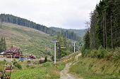 ropeway in Carpathians