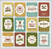 stock photo of cupcakes  - Collections of bakery design elements - JPG