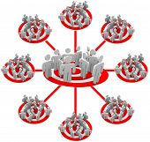 image of marketing strategy  - A grid showing several audiences of people in a targeted marketing strategy - JPG