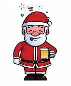 Santa Claus being drunk