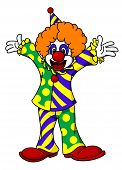 stock photo of clown face  - Circus clown in cartoon style for design - JPG