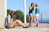 Two Teen Girls Bullying Another One