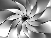 Silver abstract luxury flower petal background 3d illustration