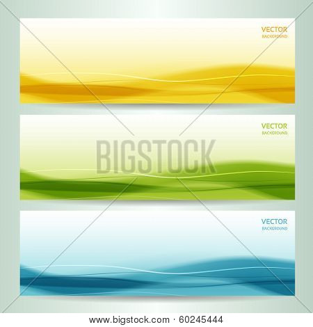 set of three abstract banners. eps 10 poster