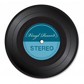 Stereo vinyl record