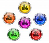 Employee People Buddy Icon Buttons