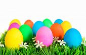 Easter Eggs In Rows