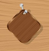 Wooden Sign Message Board Hanging On A Hook