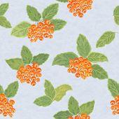 Seamless Pattern With Rowanberries