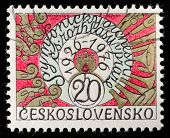 CZECH REPUBLIC - CIRCA 1976: A post stamp printed in Czech Republic and honored Prague symphony orchestra . Circa 1976.